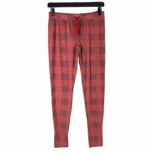 Xhilaration Womens Small Red Plaid Pajama Bottoms